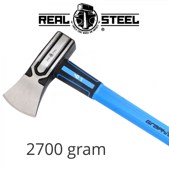 AXE HAMMER HEAD GRAPH. HANDLE REAL STEEL