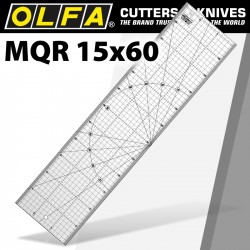 METRIC QUILT RULER 15CM X 60CM - METRIC GRID