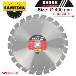 DIAMOND BLADE 400MM X 20 SEGMENTED IND REINF. CONCRETE SPEED CUT SHOXX