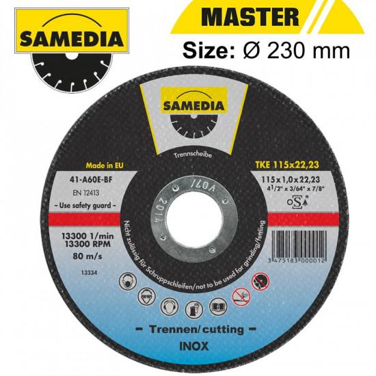 ABR CUTTING DISC 230 X 1.9 X 22.3MM OSA S/STEEL & METAL SAMEDIA