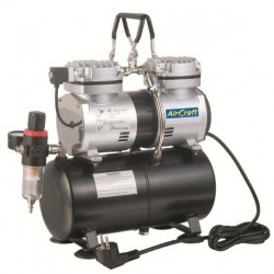 COMPRESSOR FOR AIRBRUSH 2CYL WITH TANK (AS196)