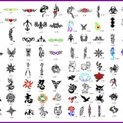 BOOK 02 TATTOO STENCILS 100 DESIGNS PER BOOK 4 DESIGNS ON EA  A4 SHEET