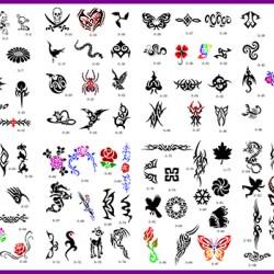 BOOK 03 TATTOO STENCILS 100 DESIGNS PER BOOK 4 DESIGNS ON EA  A4 SHEET