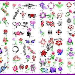 BOOK 10 TATTOO STENCILS 100 DESIGNS PER BOOK 4 DESIGNS ON EA A4 SHEET