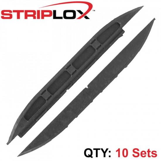 STRIPLOX MINI 120MM BLACK BULK BAG (10  SETS)