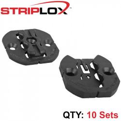 STRIPLOX CLIP 50 BULK BAG BLACK (10 SETS)