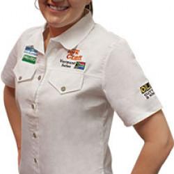 VERMONT LADIES COTTON SHIRT WHITE SMALL