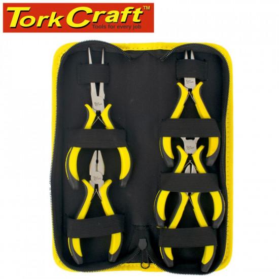 TORK CRAFT 5PC MINI PLIER SET C/W CARRY BAG