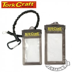 TWIN PHONE PROTECTION POUCH KIT 2 X POUCH 1 X LANYARD PVC WATERPROOF