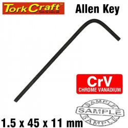 ALLEN KEY CRV BLACK FINISHED 1.5 X 45 X 11MM