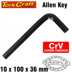 ALLEN KEY CRV BLACK FINISH 10 X 100 X 36MM