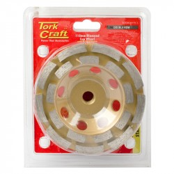 DIA. CUP WHEEL 115 MM X M14 DBL ROW COLD PRESSED
