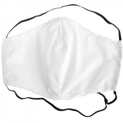 POLYEST. FACE MASK DBL LAYER WASH/RE-USEABLE PLAIN FITS ALL (MOQ 50)