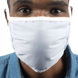 MEDMASK PLUS 2 PLY WITH FILTER BLUE WASH/RE-USEABLE TIE ON