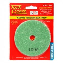 100MM DIAMOND WET POLISHING PAD 1000 GRIT DARK GREEN