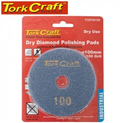 100MM DIAMOND POLISHING PAD 100 GRIT DRY USE