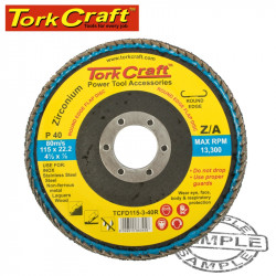 FLAP DISC ROUND EDGE ZIRCONIUM 115MM 40 GRIT FLAT