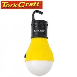 CAMPING LED LIGHT BULB 60LM HANGING HOOK USE 3XAAA BAT TORK CRAFT