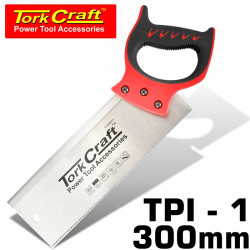 BACK SAW 300MM 12TPI 0.7MM TEMP. BLADE ABS HANDLE