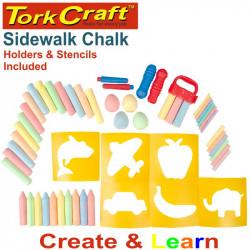 CREATE AND LEARN SIDEWALK CHALK ART 56PC BUCKET