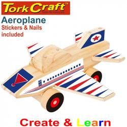 CREATE AND LEARN WOODEN AEROPLANE