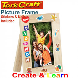 CREATE AND LEARN WOODEN PICTURE FRAME