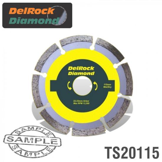 DIAMOND BLADE 115MM SEGMENTED DELROCK