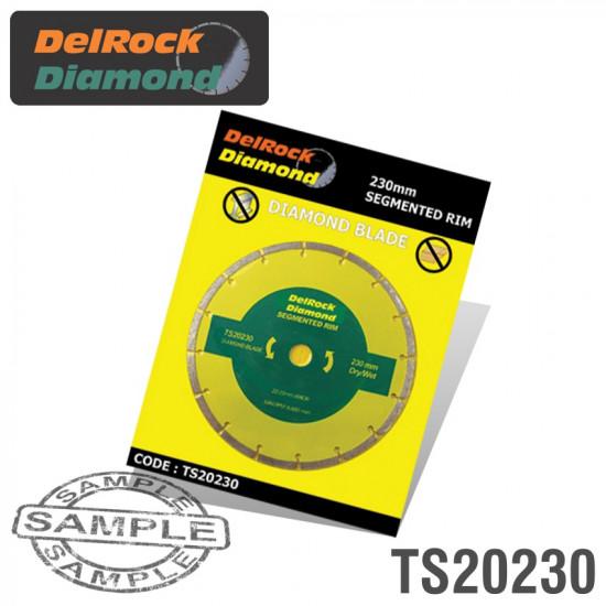 DIAMOND BLADE 230MM SEGMENTED DELROCK