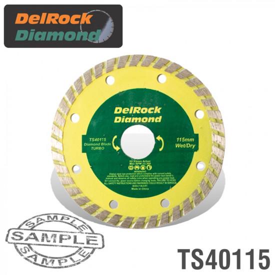 DIAMOND BLADE 115MM TURBO DELROCK