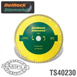 DIAMOND BLADE 230MM TURBO DELROCK