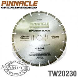 DIAMOND BLADE SEGMENTED 230MM PINNACLE BRAND
